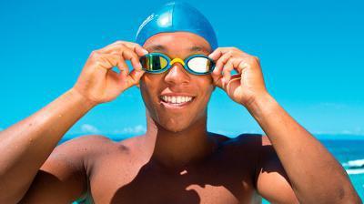 Recreatieve zwembril
